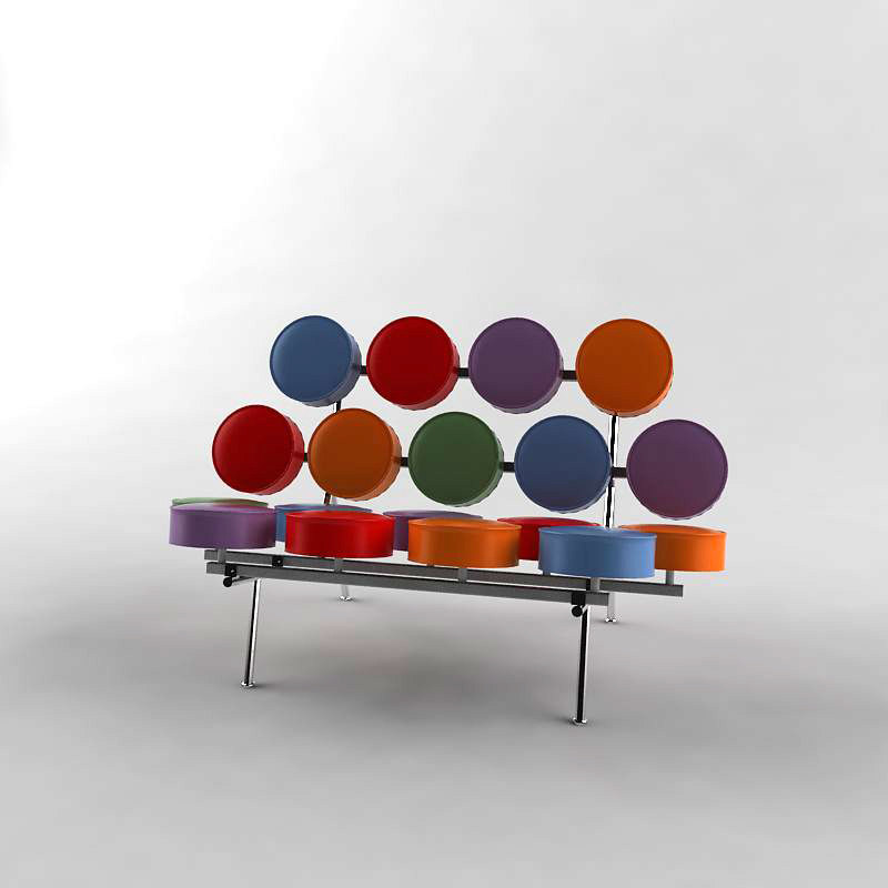 3d vitra marshmallow model