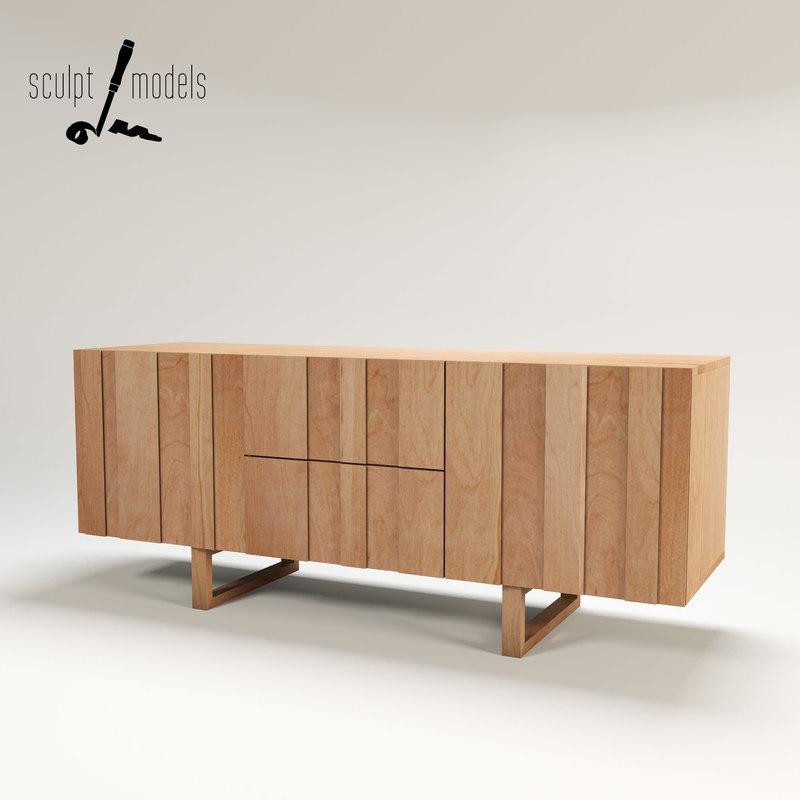 3d model lowry sideboard