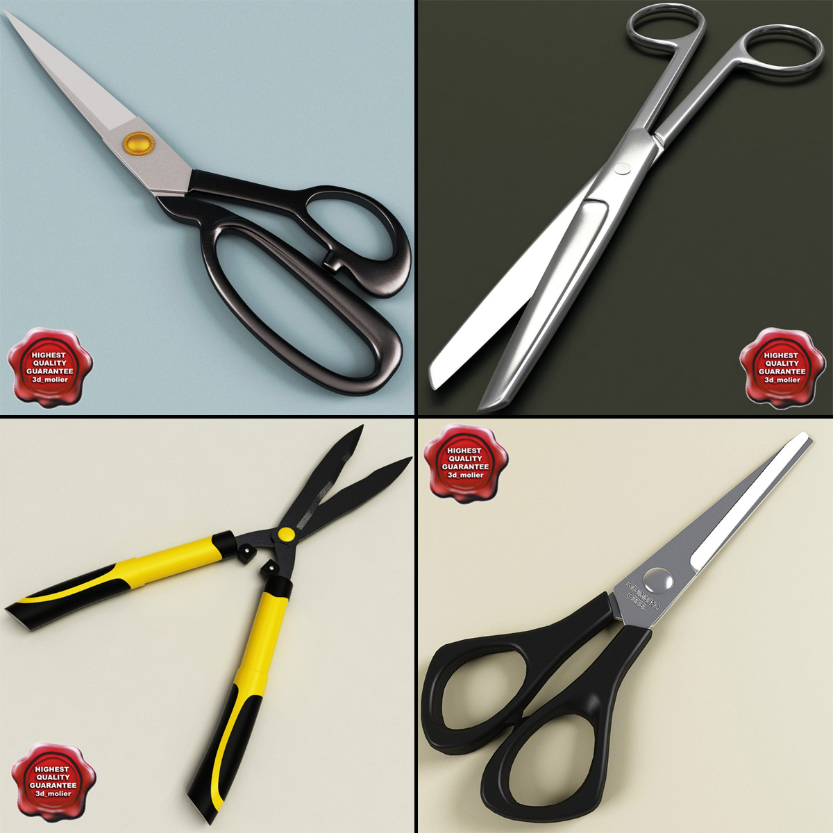 3d scissors tailor medical model