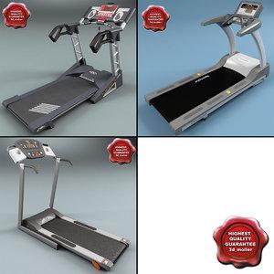 treadmills set modelled 3d model