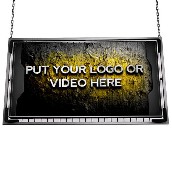 3d model of video screen