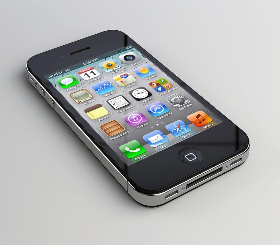 3d iphone 4s model