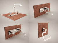 3d model bath bathroom