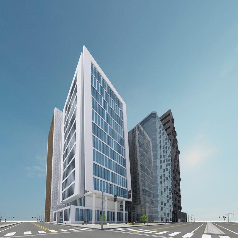 new city block 8 3d max