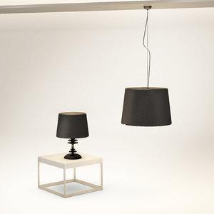 elegant lamps 3d max