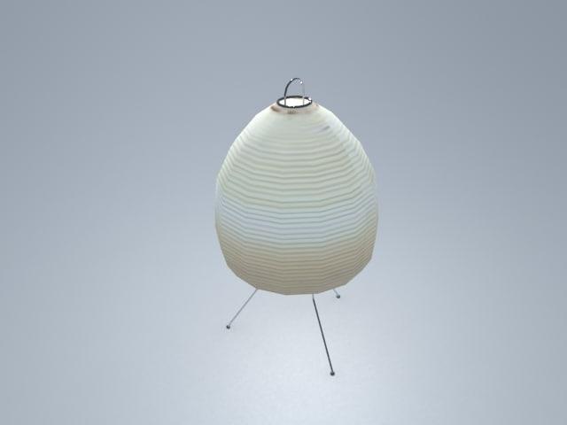akari lamp 3d model