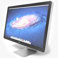 apple thunderbolt display 3d model
