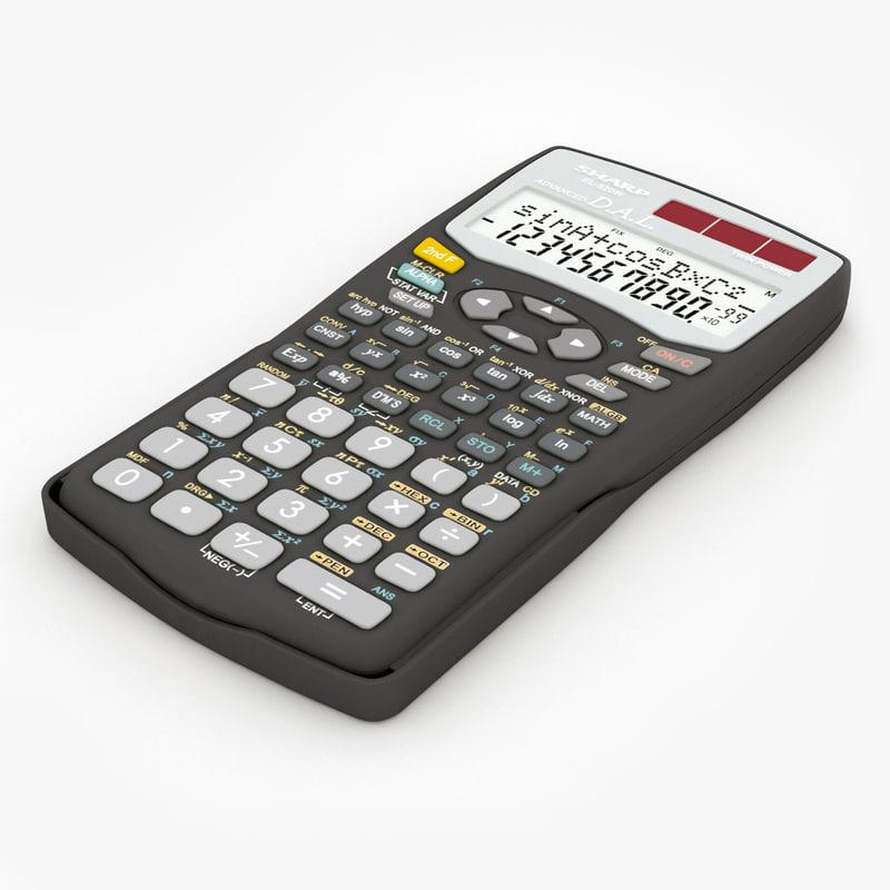 3d calculator sharp el-520w black