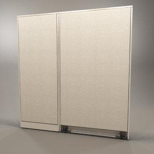 3dsmax cubicle wall panels
