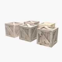 Bunch of wooden crates