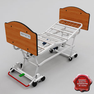 3d full-electric hospital bed zenith model