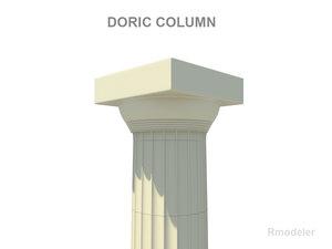 column greek doric 3d 3ds
