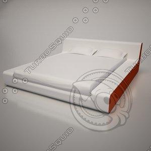 3d model bed monza frighetto