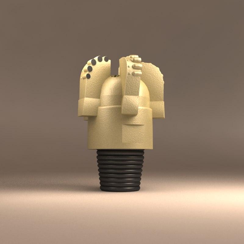 pdc drilling bit 3d model