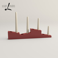 advent candle holder 3d max