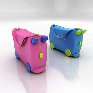 3d trunki kids case suitcase