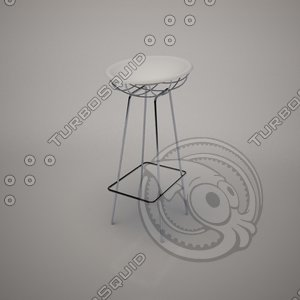 bean stool frighetto 3d model