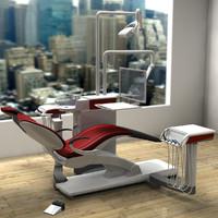 3d model of modern dental chair