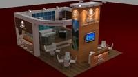 3d model fair expo stand