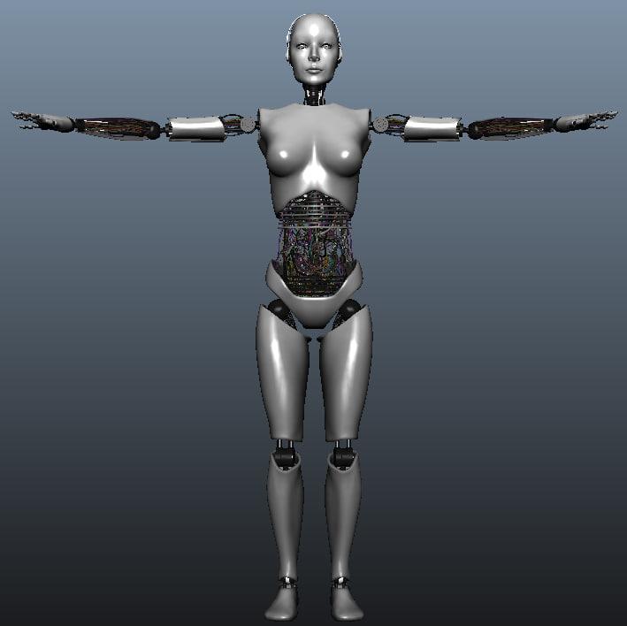 3d model robot skeleton