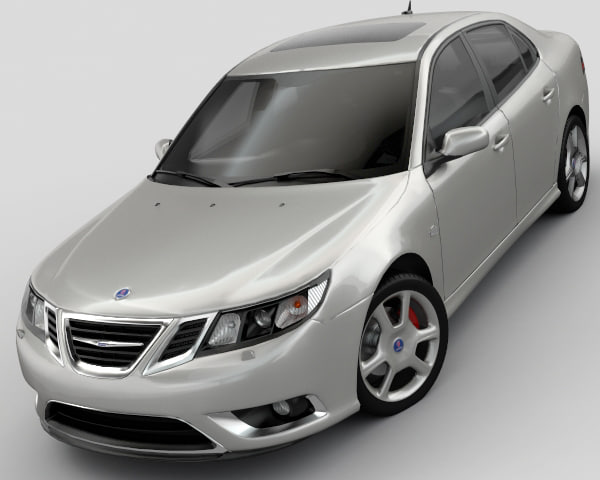 3d model of saab 93 turbo x