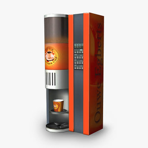 coffee machine 3d obj