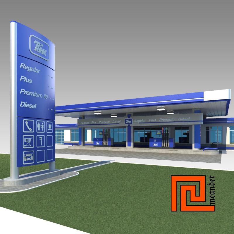 gas station tnk 3d model