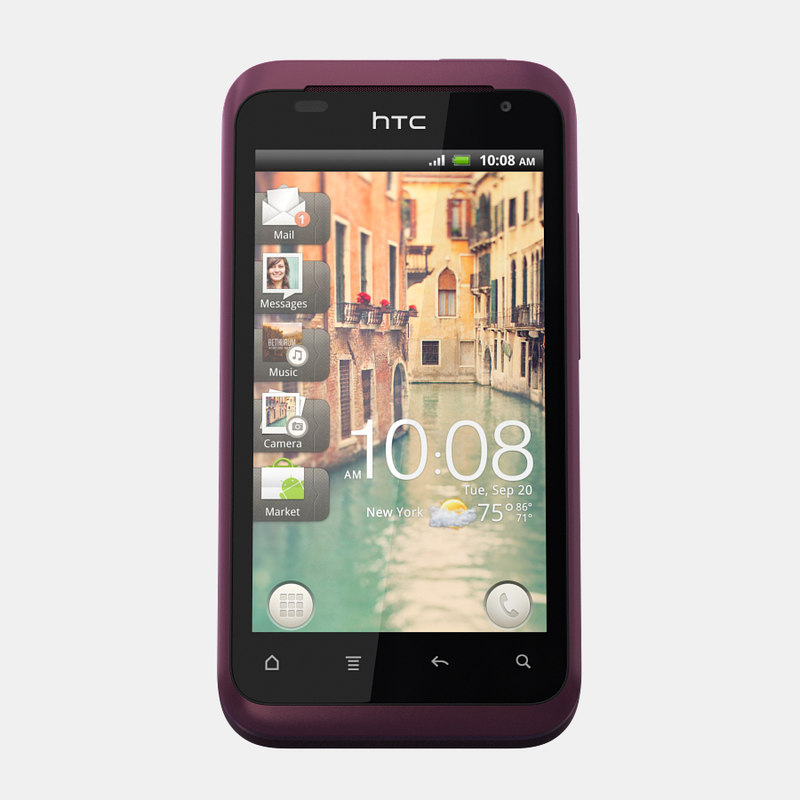 3d model htc rhyme mobile phone