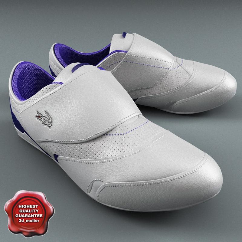mens sneakers lacoste 3d model