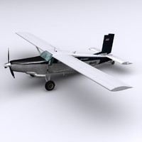 pc-6 aircraft pilatus porter 3d model