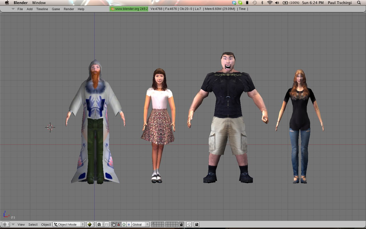 3d model character pack males females