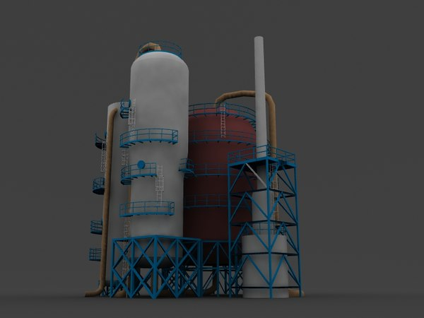 3d model refinery catalytic cracker
