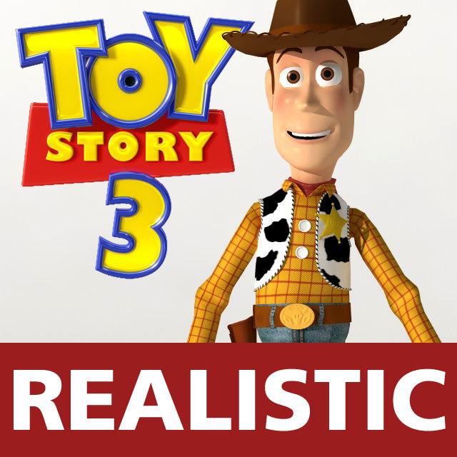 woody pixar toy story 3d max
