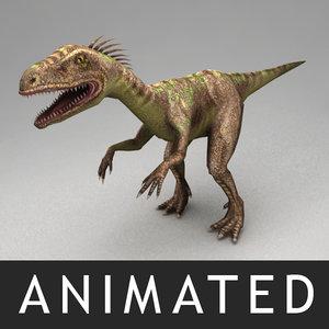 rigged raptor animation 3d model