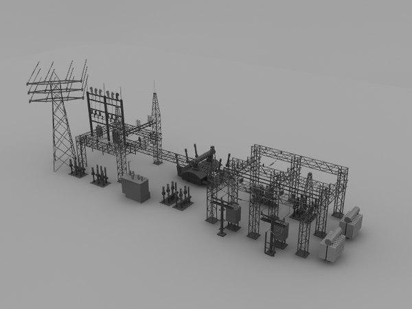 substation 3d model