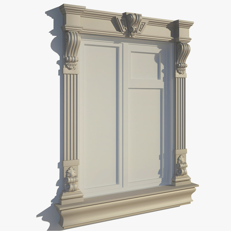 Window frame 3d 3ds for Window 3d model