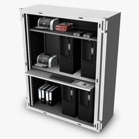 3d model server cabinet