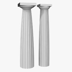 3d model greek doric column