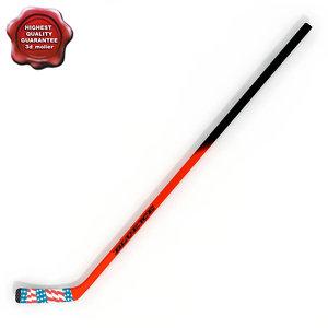 hockey stick v3 3d c4d