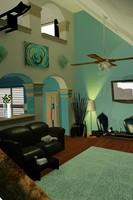 livingroom room 3d max