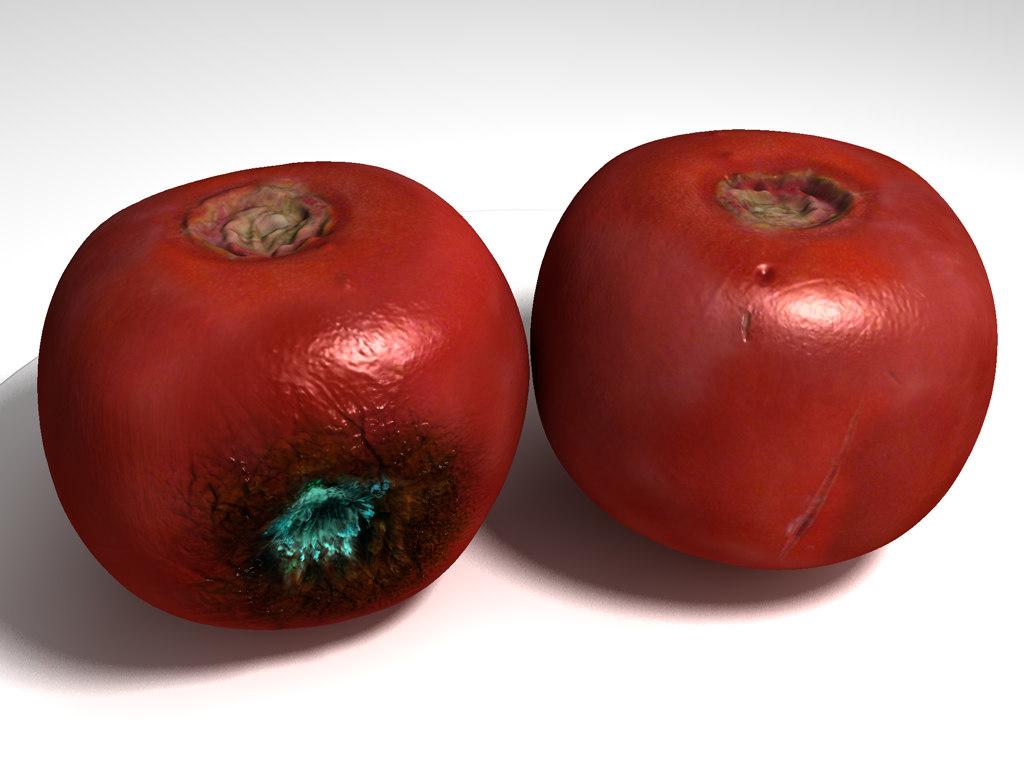 3d rotten tomato