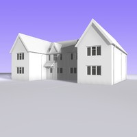 british 2 storey semi detached 3d obj