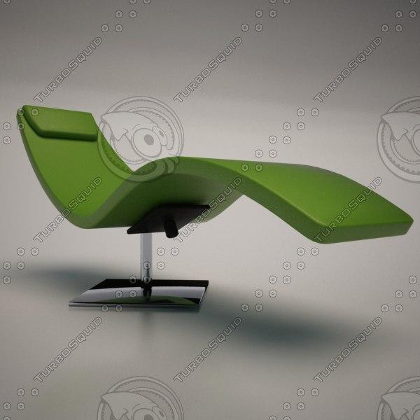 cattelan italia casanova chaise lounge 3d model