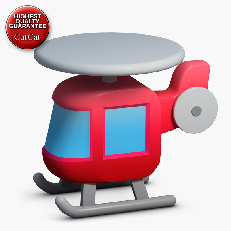 construction icons 43 helicopter 3d model