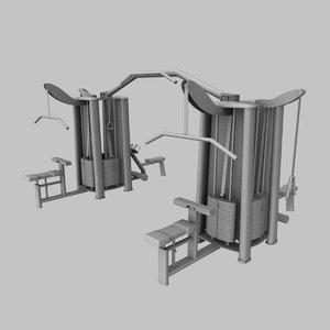 fitness workout machine 3d model