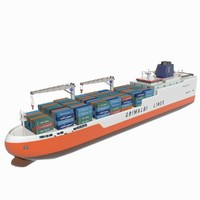 3d grimaldi container ship model