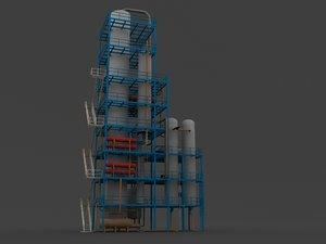hydrotreater refinerys 3d max