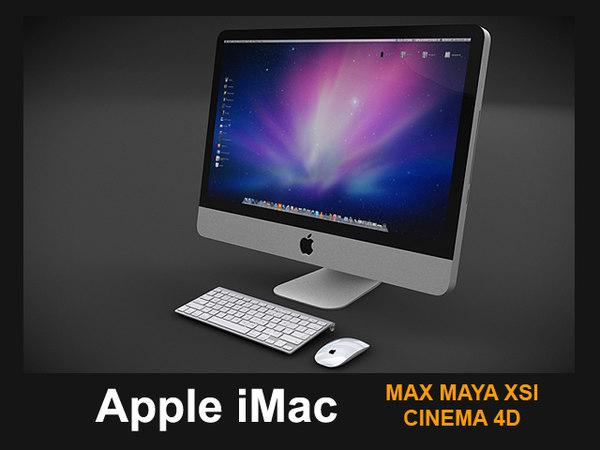apple imac 2011 3d 3ds