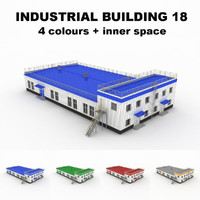 medium industrial building 18 3d obj