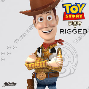 3d woody rigged model